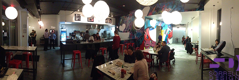 Panoramic of Seoul Spice during soft opening.